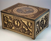 Steampunk Storage Box - Features Working Planetary Gears, and Gear-Driven Latch - DapperDevil