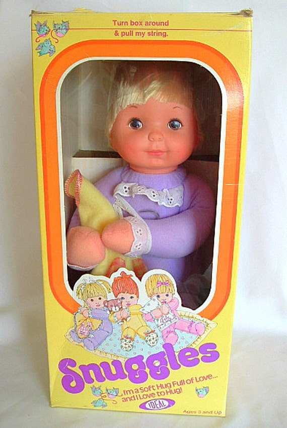 Ideal 1978 Snuggles Doll Purple W Blanket Nos Vintage Nrfb