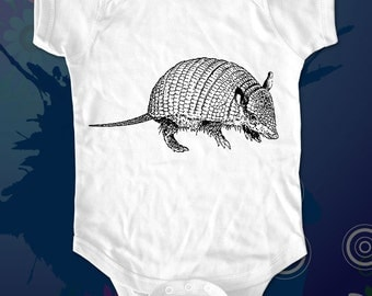 armadillo 2 - graphic printed on Infant Baby One-piece, Infant Tee, Toddler T-Shirts - Many sizes