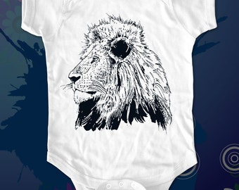 lion 1 - animal graphic printed on Infant Baby One-piece, Infant Tee, Toddler, Youth T-Shirts - Many sizes