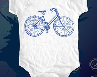 bike 1 - graphic printed on Infant Baby One-piece, Infant Tee, Toddler T-Shirts - Many sizes