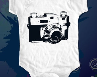 camera 2 - graphic printed on Infant Baby One-piece, Infant Tee, Toddler T-Shirts - Many sizes