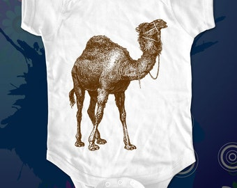 Camel 1 - graphic printed on Infant Baby One-piece, Infant Tee, Toddler, Youth T-Shirts - Many sizes