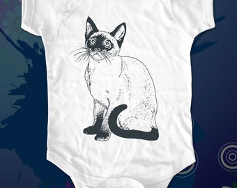 cat 2 - graphic printed on Infant Baby One-piece, Infant Tee, Toddler, Youth T-Shirts - Many sizes