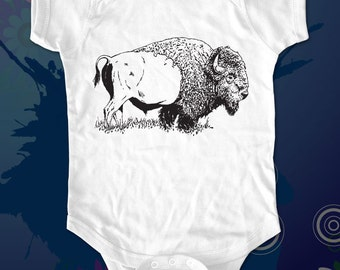 Buffalo 1 - graphic printed on Infant Baby One-piece, Infant Tee, Toddler T-Shirts - Many sizes