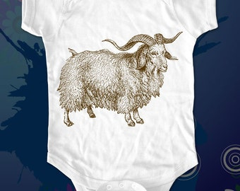 Goat 2 - graphic printed on Infant Baby One-piece, Infant Tee, Toddler T-Shirts - Many sizes