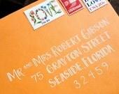 CALLIGRAPHY ENVELOPE ADDRESSING in Rockwell Style - Wedding Envelopes