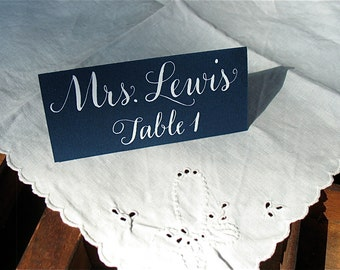WEDDING PLACECARD CALLIGRAPHY in Vigny Style