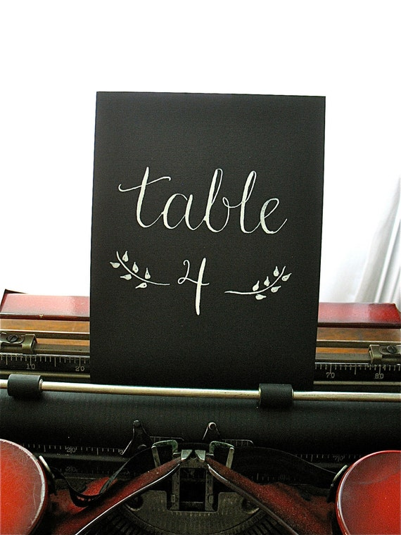 SALE: TABLE NUMBERS - Calligraphy - Wedding - Table Signs