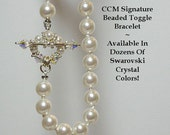 Sale-Knotted Pearl Beaded Toggle Bracelet