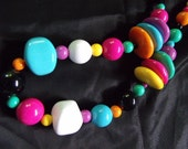 Vintage colorful bead necklace perfect for your fabulous cruise.
