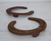 reserved for shae - vintage quartet of horseshoes