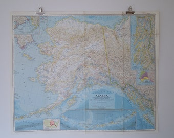 1956 alaska national geographic wall map