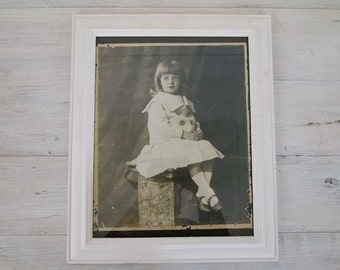 vintage framed early photograph of girl