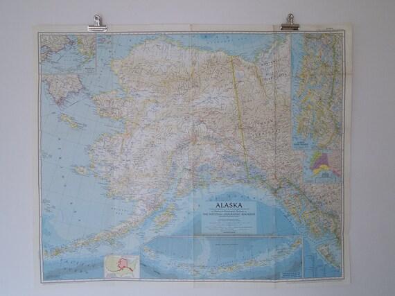 1956 alaska national geographic wall map