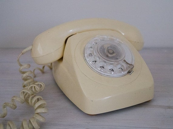 reserved for T&W - vintage rotary dial cream telephone PMG 802