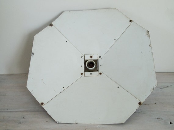reserved for T&W - vintage industrial photography umbrella lightshade
