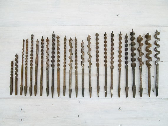 reserved for gary - vintage metal drill bit collection