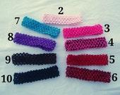 Crochet Elastic Baby Headbands - Choose 6