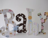 Baby Letters Wood Letters  Nursery Letters Nursery Decor Home Decor