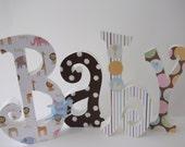 Baby Letters Wood Letters  Nursery Letters Nursery Decor Home Decor
