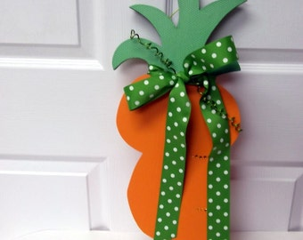 FREE SHIPPING!  Spring Door Hanger - Giant Carrot - Wall Hanging