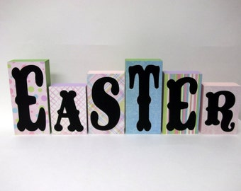 FREE SHIPPING!  Easter Decor Wood Blocks - Home Decor