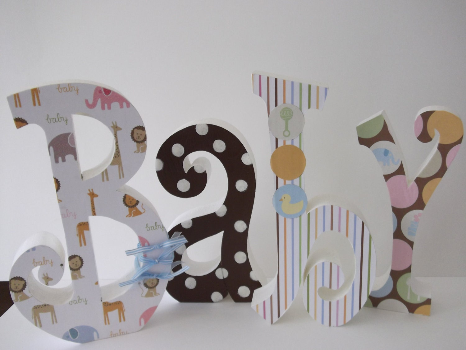 Baby letters wood letters nursery letters nursery decor home for Baby room decoration letters