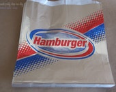 ReTRo HaMBurGeR BaGs-Foil--Birthday Parties--Sports theme--circus--Baseball--Cookout--25ct