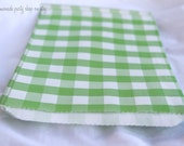 GiNGHaM FaVoR BaGs--Green--party favors--gifts--farm parties--picnics---weddings--showers--24ct