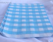 GiNGHaM FaVoR BaGs-- BLue--party favors--gifts--farm parties--picnics---weddings--showers--24ct