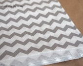 MeDiUM CHeVRoN PaTTerN PaPER BAGs-- Gray--party favors--gifts---weddings--showers--20ct