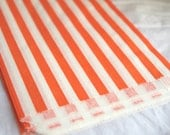 ViNTaGe SWeeT SHoP PaPER BAGs-- ORaNGe and WHiTe STRiPe party favors--gifts---weddings--showers--25ct