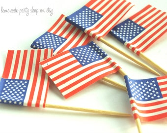 AMeRiCaN FLaG FooD PicKs----BBQ-4th of July---Picnics---50ct