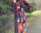 Frankenstein Velvet Coat Dress