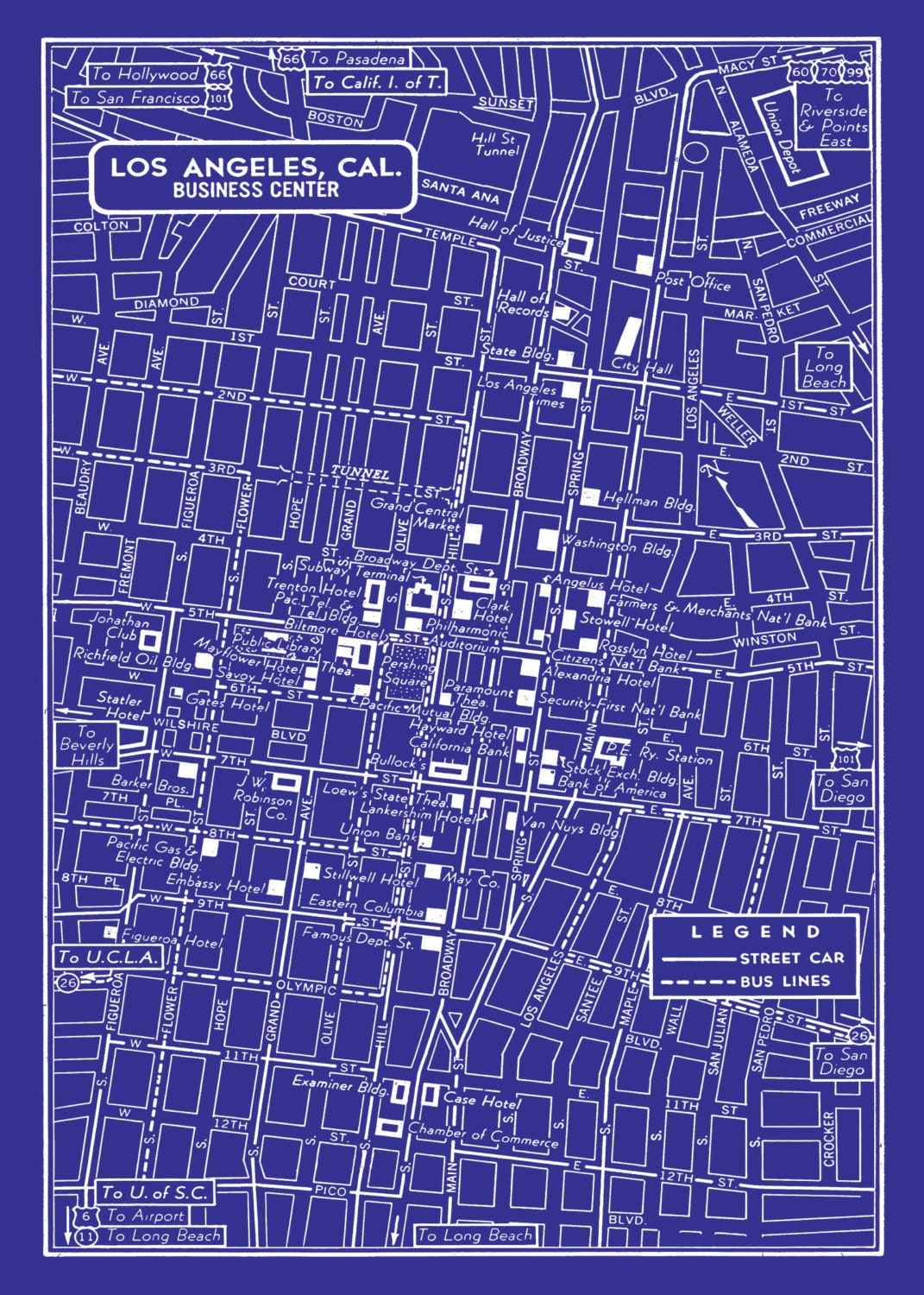Vintage shopping downtown los angeles the best places for vintage vintage shopping downtown los angeles vintage map of downtown los angeles by malvernweather Choice Image