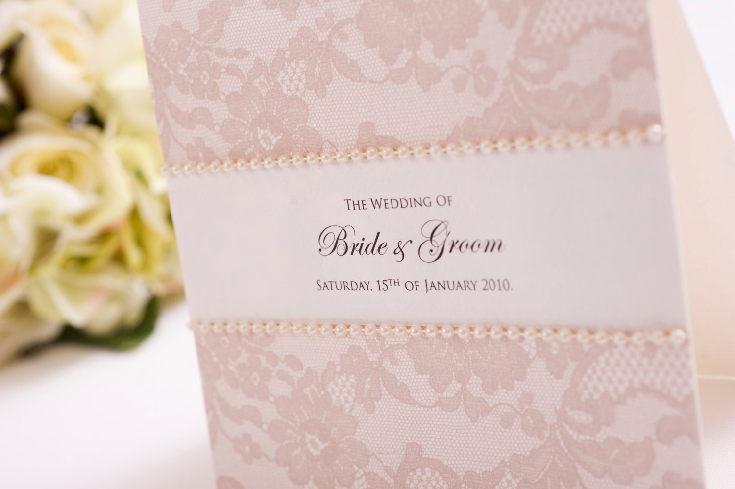 Wedding Invitation Lace: DIY Wedding Invitation Vintage Lace Invite