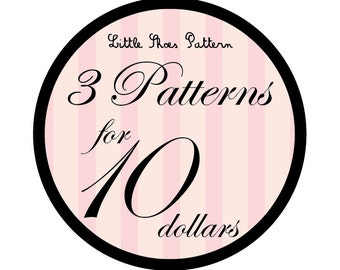 Great Deal - Buy 3 PDF Baby Shoes Pattens for 10 Dollars