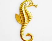 2 Serious Seahorse Brass Charms/Beads For DIY Necklaces or Earrings.