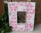 1-5x7 Handmade Wood Frame Comes w/ Glass and Picture Hanger