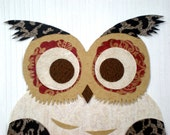 Owl Collage / Original Art / Childrens Room / 11x14 Wall Decor / Ready To Frame - the333alliance