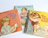 Three Vintage Little Golden Books Mother Baby Child Family Illustrated