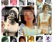 4008-JACKIE KENNEDY-ONASSIS portraits-1''X2''Inch Domino jpg Images - Digital Collage sheet 8.5''X11''