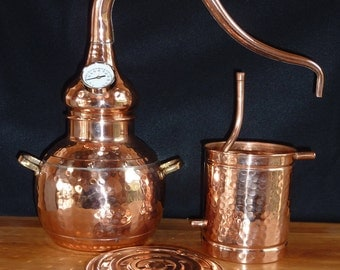 Copper Alembic Still 3 Liter for Home Gardens