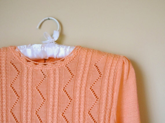 Salmon Pointelle Sweater