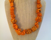 Orange Singletini Foxy Roxy - Tangerine Chunk Single Strand Necklace