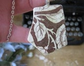 All proceeds go directly to Hurricane Sandy Relief Efforts - Brown Rose Sea Pottery Pendant Designs on Both Sides