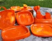 Vintage Orange picnic set, modern