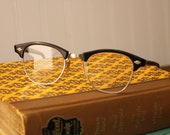 Vintage black cat eye frames, reading glasses, Optical