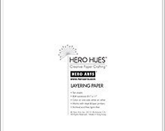 Hero Arts Snow Layering Paper PS610